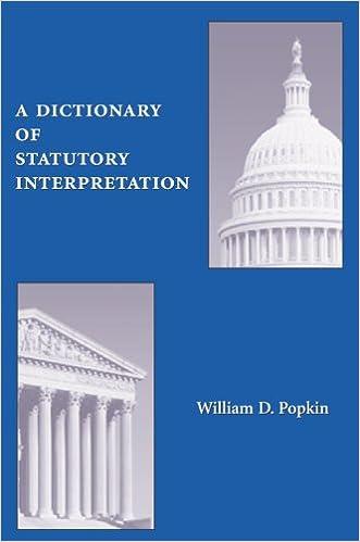A Dictionary of Statutory Interpretation