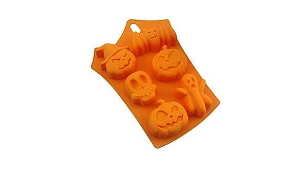 Compra Naisicatar De Silicona del Molde del Caramelo de Halloween del Cubo de Hielo bandejas de Molde Calabaza del Fantasma Molde de la hornada para ...