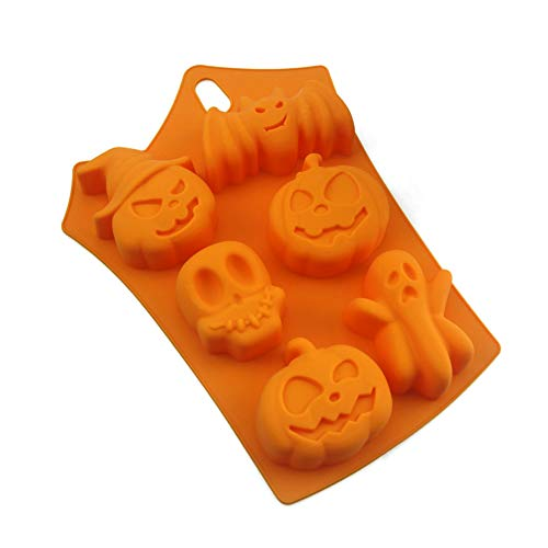 NiceWave Silicone Mold Halloween Candy Ice Cube Mold Trays Ghost Pumpkin Baking Mold for Halloween Chocolate Muffin Cups Ice Cube Creative Design ()