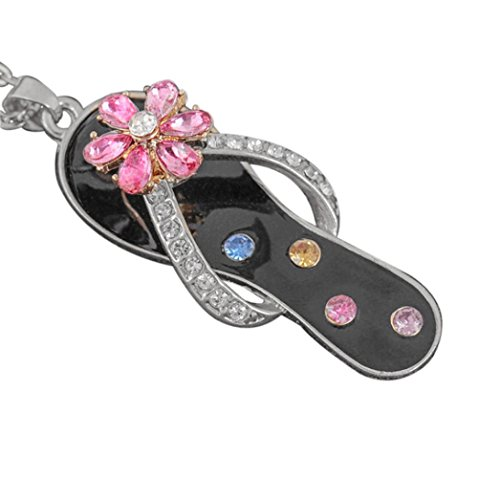 Sacow Chain Necklaces, Diamond Slippers Shaped Rotating Necklace (B)