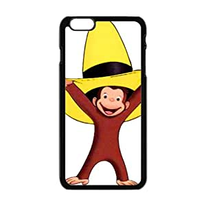 Cute Monkey With Yellow Hat Black iPhone plus 6 case