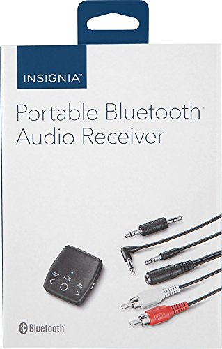 - Insignia Portable Bluetooth Audio Receiver, Model: NS-MBTK35, Black