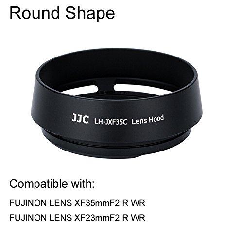 eFonto/JJC Metall Gegenlichtblende für Fujifilm Fujinon Objektiv XF 35mm f2,XF 23mm F2 R WR Objektiv Ersatz Fuji LH-XF35–2 (s
