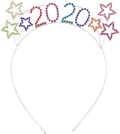 Rosemarie Collectioins Womens Rhinestone Happy New Years Tiara Headband