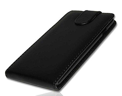 Handy Tasche Case Etui Flip für Apple iPhone 6 Plus Hülle Etui Schutzhülle schwarz