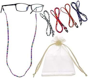 Hestya 5 Pieces Eyeglass Strap Eyewear Holder Retainer (Eyeglasses Not Included)