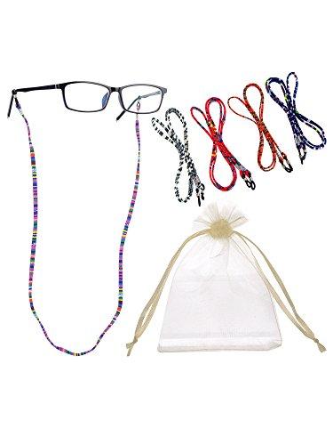 Hestya 5 Pieces Eyeglass Strap Eyewear Holder Retainer (Eyeglasses Not - Eyeglass Strings