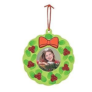 Amazon.com: Foam Thumbprint Wreath Picture Frame Christmas ...