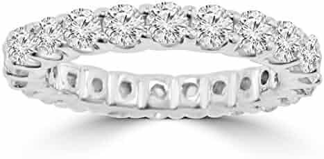 2.21 ct Ladies Round Cut Diamond Eternity Wedding Band (Color G Clarity SI-1) in Platinum