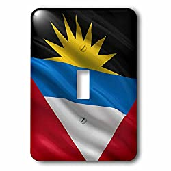3dRose lsp_178798_1 Flag of Antigua and Barbuda Waving in The Wind Light Switch Cover