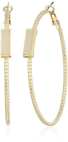GUESS 410874 21 Parent Stone Hoop Earrings