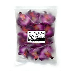 """(12) Small Purple Phalaenopsis Orchid Silk Flower Heads - 2"""" - Artificial Flowers Heads Fabric Floral Supplies Wholesale Lot for Wedding Flowers Accessories Make Bridal Hair Clips Headbands Dress 4"""