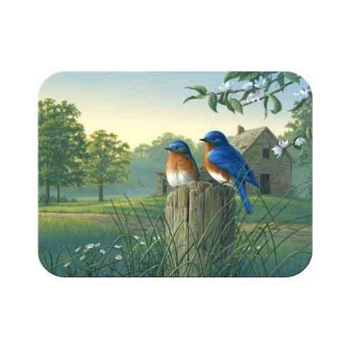 Tuftop McGowan Country Morning Bluebirds Cutting Board, Multicolor