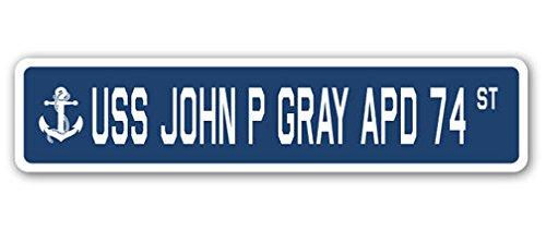 USS John P Gray Apd 74 Street Sign DECAL STICKER US Navy Veteran Military - Gray Street Sign