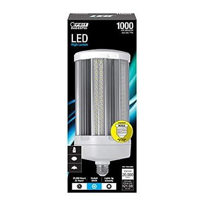 "Feit Electric C20000/5K/LED 1000 Watt Equivalent 175W Corn Cob High 20,000 Lumen LED Light Bulb, 13.4""H x 5.3""D, Daylight 5000K"