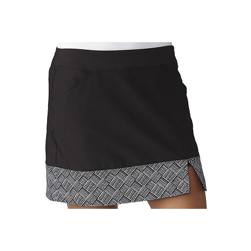 Performance Line Taylormade (adidas Golf Women's Adistar Printed Hem Skort, Black, Large)