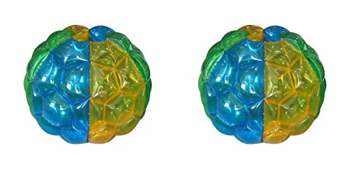 3.5' Colorful Bumper Balls - Set of 2 - Indoor Outdoor Fun by Medal Sports