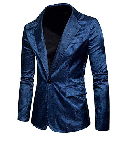 Botón Traje Slim Blau Casual Con Los Battercake Blazer Fit De Hombres Dibujo Cómodo 1 Chaquetas Negocios XB8qga