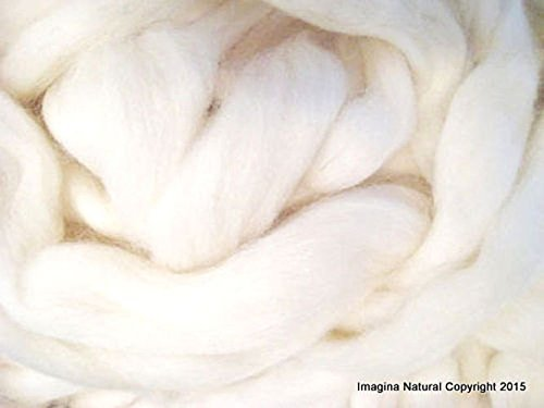 Free Shipping White Handmade Top Roving Merino Wool Organic Hand Spinning Felting Fibre Araucania Fieltro Craft Art Chilean Knitting Chunky - 5000g/175oz ()