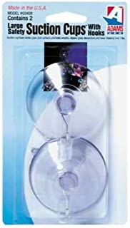 """product image for Adams 6000-74-3040 2-1/2"""" Clear Suction Cup With Metal """"U"""" Hook 2 Count"""