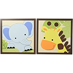Bedtime Originals Jungle Buddies Wall Decor, Brown/Yellow