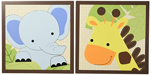 Bedtime Originals Jungle Buddies Wall Decor, (Jungle Baby Decor)