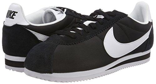 Wmns Classic Chaussures De blanco Course Cortez Nike Blanc Femmes Blanco Nylon noir Pied drXwYqw1Wx
