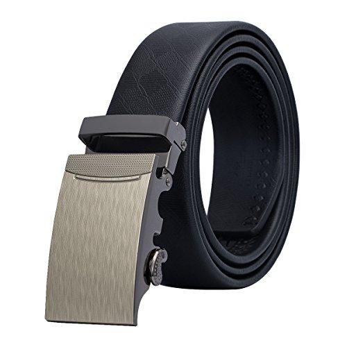 Di Vestito Pelle Cinture Cinturino Mens Con Nero Qualità Fibbia Nero wang Alta Rimovibile In Barry 2 g8F0wqt44