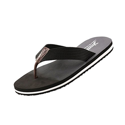 Baymate Mann Sandalen Flip Post Stil Änderung Strand Unisex Schuhe Allmähliche Flops Paare Schwarz Toe 7vT7wnqr