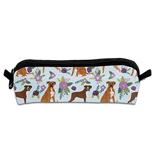 MOOTIL Boxer Flower Nursery Printing Portable Pen Holder Stationery Pencil Pouch Cosmetic Bags