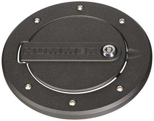 DefenderWorx H3PPB08060 Black Locking Fuel Door for Hummer (Hummer H3 Fuel Door)