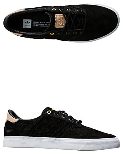 Adidas Originali Mens Seeley Prima Classificata Moda Sneaker Core Nero / Pallido Nudo / Calzatura Bianca