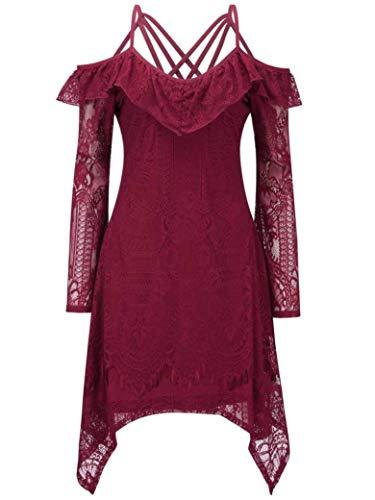 Killstar Donna Unita Vivo Lunga Vestito Manica Tinta Rosso A6gHASrx