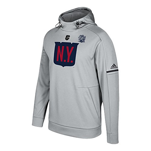 adidas NHL New York Rangers Mens NHL Winter Classic Logo Pro Player Hoodnhl Winter Classic Logo Pro Player Hood, Stone, Medium