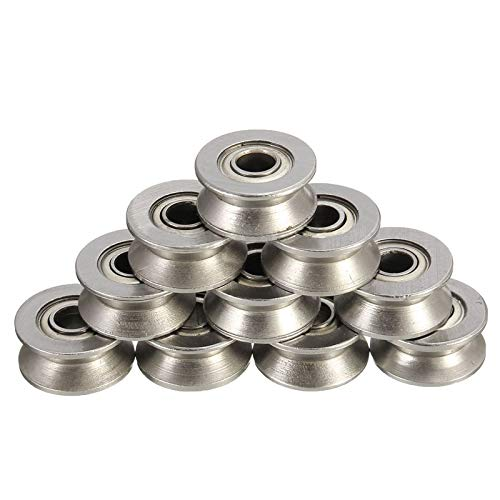 - Shafts - 10pcs Ball Bearing 624vv Sealed Guide Wire Track 4 Groove Pulley Rail Linear Motion System - Mien Productive Presence Supporting Armorial Heading Block