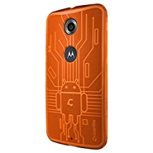 Nexus 6 Case, Cruzerlite Bugdroid Circuit TPU Case Compatible for Google Nexus 6 / Motorola Nexus 6 (2014 Release) - Orange