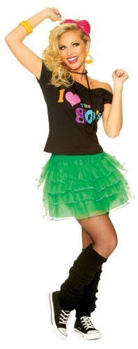 80s Green Multi-Layered Petticoat Tutu Skirt