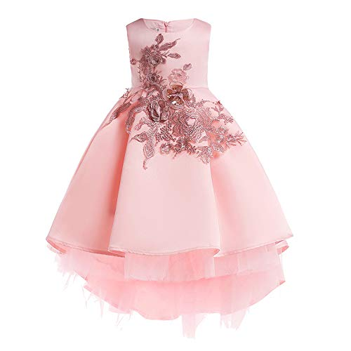Keliay Bargain Floral Baby Girl Princess Bridesmaid Pageant Gown Birthday Party Wedding ()