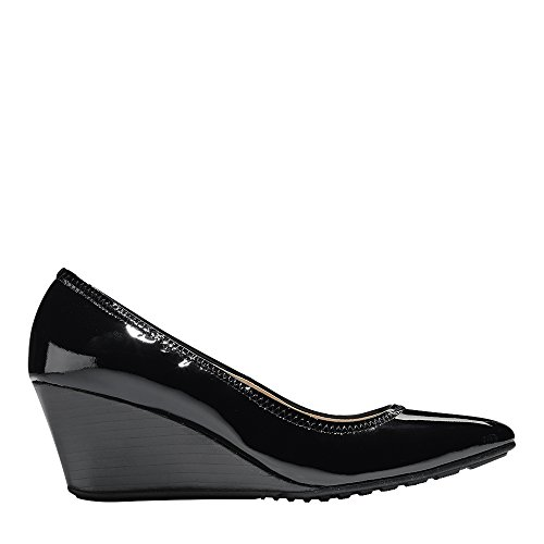 Cole Haan Donna Emory Luxe Cuneo 65mm Pompa Brevetto Nero