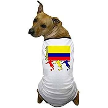 CafePress - Colombia Soccer - Dog T-Shirt, Pet Clothing, Funny Dog Costume