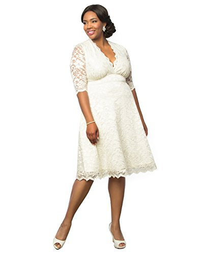Kiyonna Women's Plus Size Wedding Belle Dress