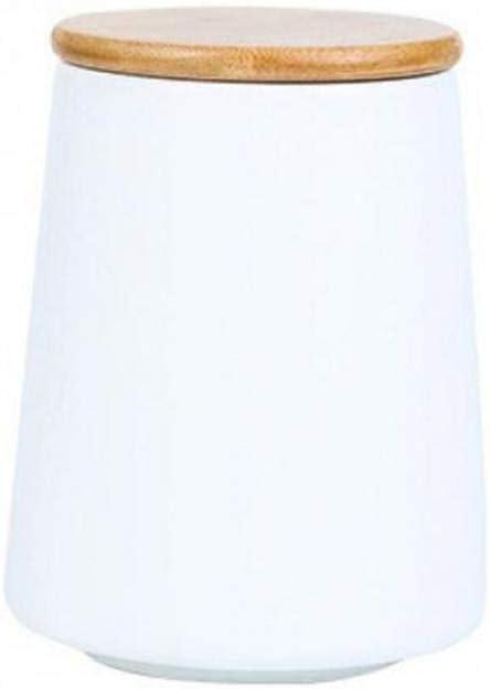 Ceramic Food Storage Jar with Lid, Food Storage Container for Sugar, Coffee, Tea,Powder (white,700ml/24oz)