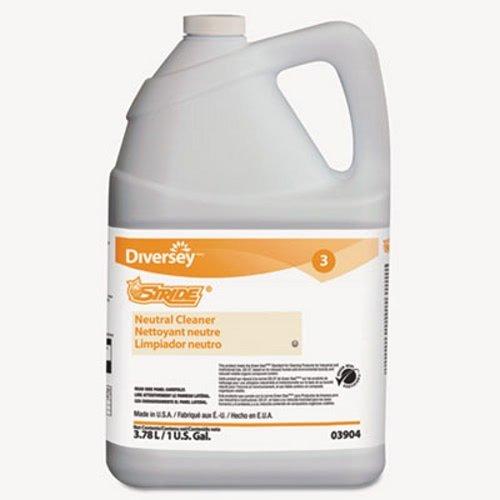 Stride Neutral Cleaner, Citrus, 1 gal, 4 Bottles/Carton by Diversey