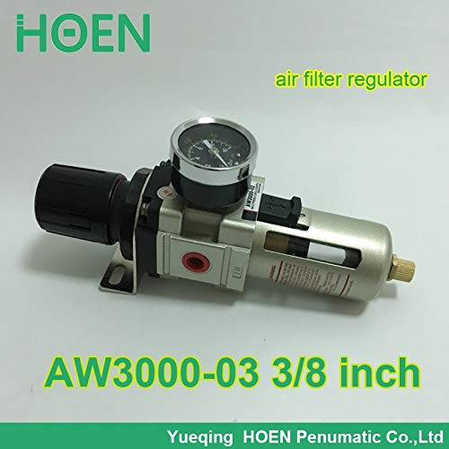 Ochoos AW3000-03 AW3000-03D PT3/8'' SMC Type Pneumatic air Filter Regulator with Manual/auto Drain 3/8 inch air Treatment Unit - (Specification: AW3000-03D)