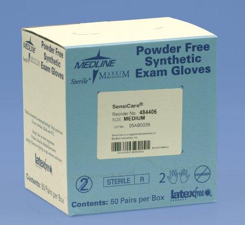 Sensicare Sterile Pf Vinyl Exam Gloves Medium, 50 pair