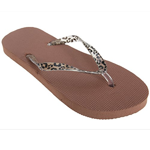 Imprimé Animal Floso À Tongs Marron Femme Eq67UB8