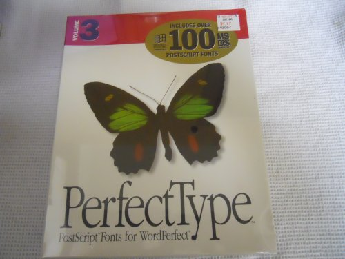 PerfectType, Volume 1: Postscript Fonts for WordPerfect. Note: NO CDs. ONLY 3.5