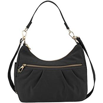 8242c6c59cc2 Amazon.com: Travelon Anti-Theft Signature Hobo, Black, One Size ...