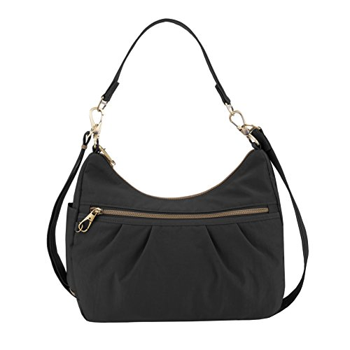 Travelon Anti-theft Signature Hobo Bag, Black