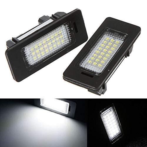 FidgetKute Pair of LED License Plate Lights for BMW E39 E60 E61 E90 5 Series ab5
